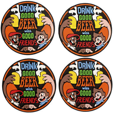 Porta Copos - Drink good beer - 4 unidades