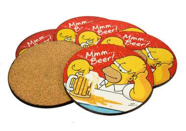 Porta Copos - Hommer MMM Beer - Jogo 6 unidades