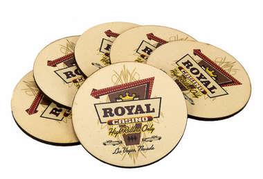 Porta Copos - Royal Cassino - Jogo 6 Unidades