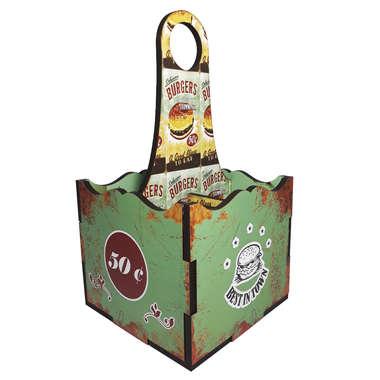 Porta Talheres MDF - Burgers