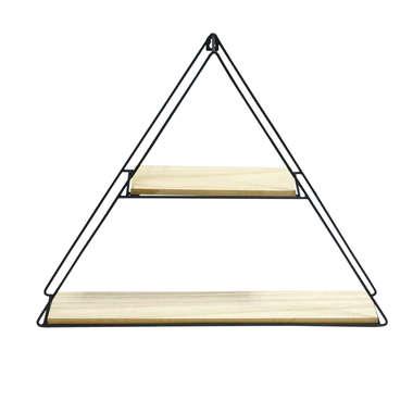 Prateleira Madeira e Metal Triângulo -50 x 40 cm