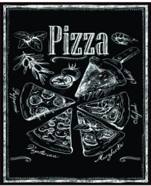 Placa MDF Pizza