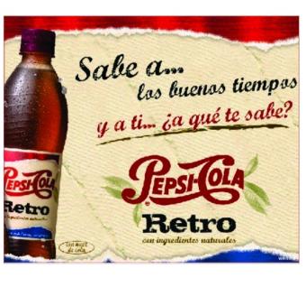 Placa Decorativa MDF - Pepsi Retrô - 18x22cm