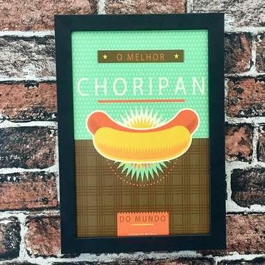 Quadro O melhor Choripan - Linha CDB Designer 33x22 cm