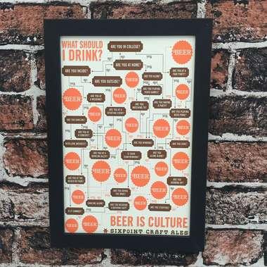 Quadro Beer Is Culture - Linha CDB Designer 33x22cm