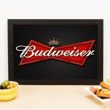 Quadro Black Budweiser  - Linha CDB Designer 33x22 cm