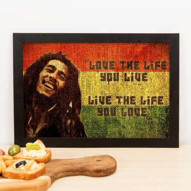 Quadro Bob Marley - 22x33 cm