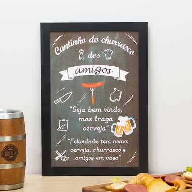 Quadro Cantinho dos Amigos - 33x22 cm