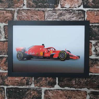 Quadro Ferrari F1 2019 - Linha CDB Designer 33x22 cm