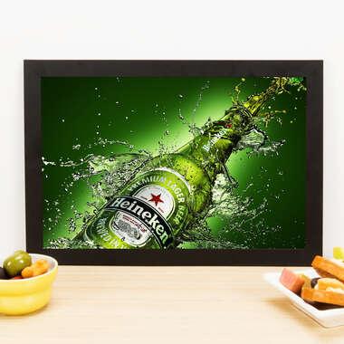 Quadro Heineken Splash - 33x22 cm