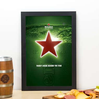 Quadro Heineken Behind the Star - 33x22 cm