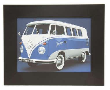 Quadro Kombi Azul - 43 x 53 cm