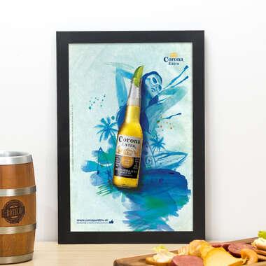 Quadro Corona Verão - 33x22 cm