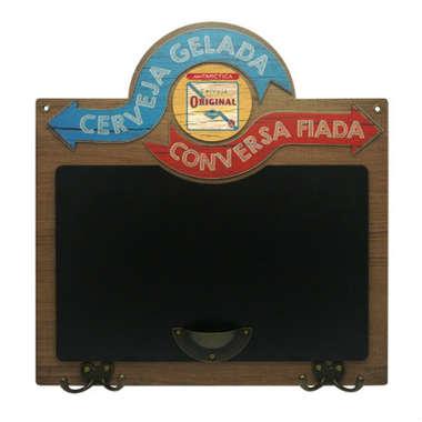 Quadro Lousa Cerveja Gelada Conversa Fiada - Original