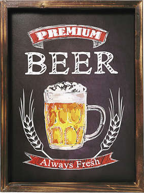Quadro MDF - Beer Always Fresh - 30x40 cm