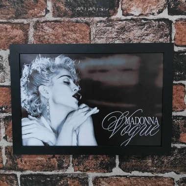 Quadro Madonna Vogue - Linha CDB Designer 33x22 cm