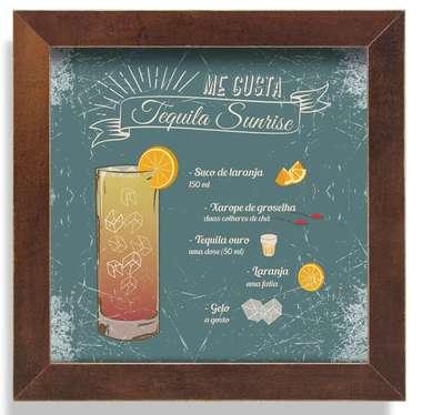 Quadro Metal Tequila Sunrise  - 23 x 23 cm