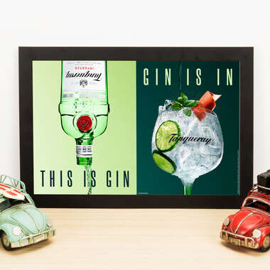 Quadro Tanqueray This is Gin - 33x22 cm