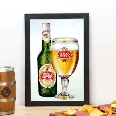 Quadro Stella Artois Watercolor 33x22 cm