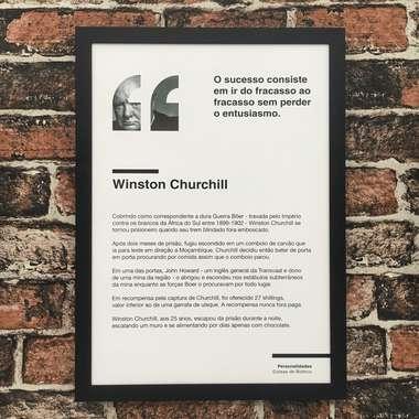 Quadro decorativo Winston Churchill - Linha CDB 45x32 cm