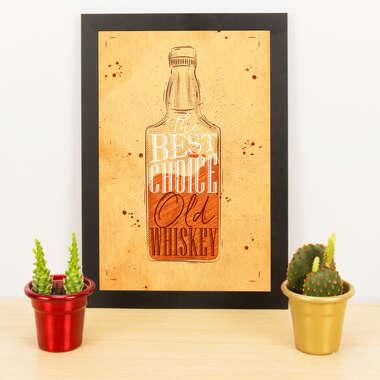 Quadro - Old Whiskey - 33x23 cm (Nude)