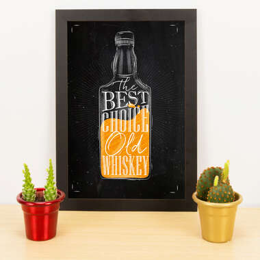Quadro - Old Whiskey - 33x23 cm (Preto)
