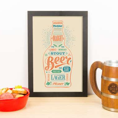 Quadro - Beers - Nude - 33x23 cm