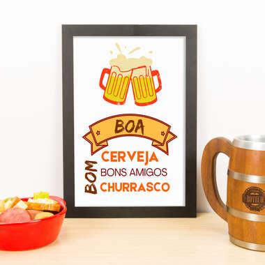 Quadro - Boa Cerveja Bons Amigos  - 33x23 cm