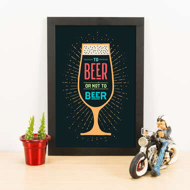 Quadro - To beer or not to beer - Cores - 33x23 cm