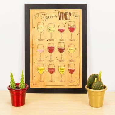 Quadro - Types of Wine - 33x23 cm (Nude)