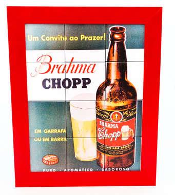 Quadro com Azulejos - Cervejaria Brahma
