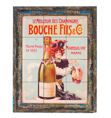 Quadro com Azulejos - Champagnes Bouché Fils