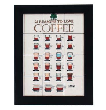Quadro com Azulejos - Coffee