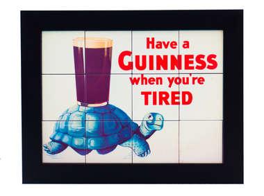 Quadro com Azulejos - Guinness Tired