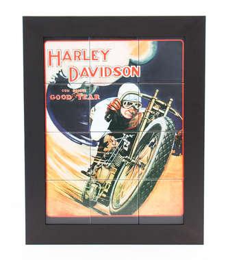 Quadro com Azulejos - Harley Davidson