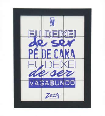 Quadro com Azulejos - Pé de Cana -Zeca Pagodinho
