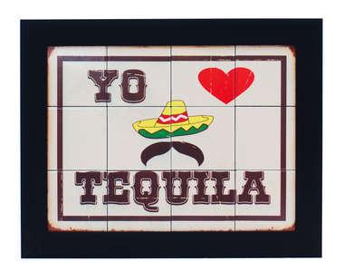 Quadro com Azulejos - Tequila