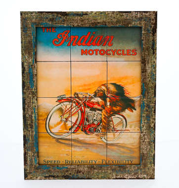 Quadro com Azulejos - The Indian Motocycles