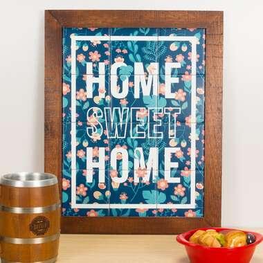 Quadro de Azulejos - Home Sweet Home - 47 x 37 cm
