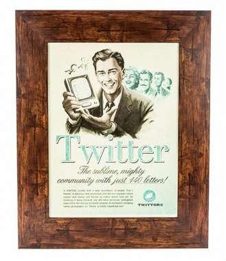 Quadro em madeira - Twitter