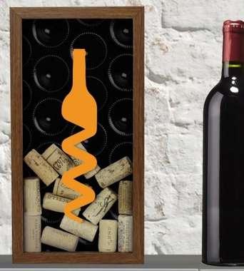 Quadro porta rolhas 31x16 cm - Bottle