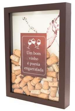 Quadro porta rolhas - Vinho e poesia
