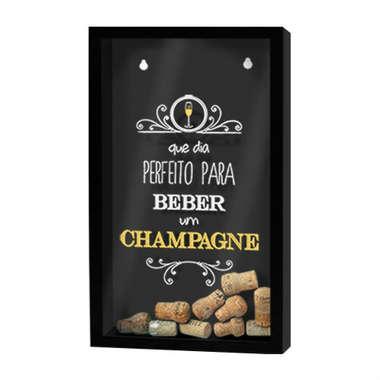 Quadro porta-rolhas de garrafas de vinhos - 100 rolhas - Dia perfeito