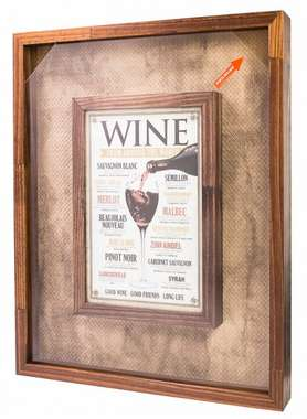 Quadro Porta Rolhas - 150 Rolhas -  Wine from Around the World