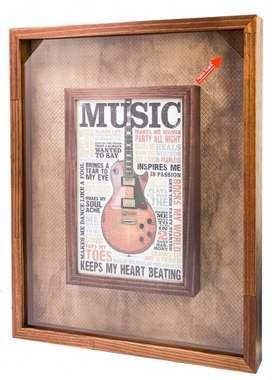 Quadro porta tampinhas - Music