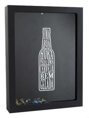 Quadro porta tampinhas de garrafas de cervejas -  Boa Hora