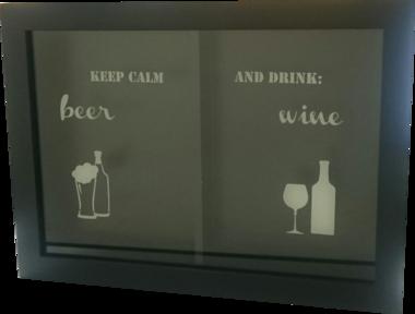Quadro porta-tampinhas e rolhas - Wine & Beer