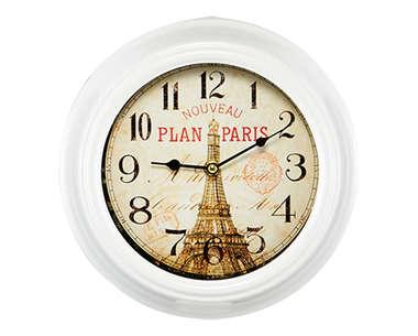 Relógio Metal Branco - Paris 25 cm