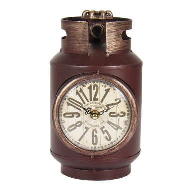 Relógio de Mesa Botijão em Metal - Standard Time