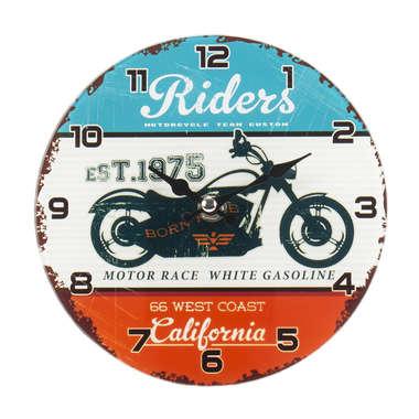 Relógio para mesa de vidro - Riders - 17 cm